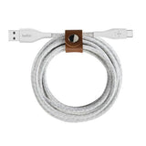 Belkin DuraTek Plus Type-C to USB-A Cable with Strap 1.2m/3m Black & White