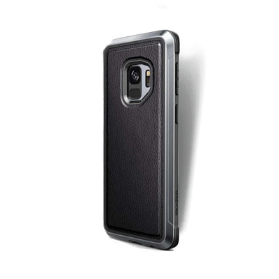 Samsung Galaxy S9 Defense Lux Black Leather - Mobile Technica