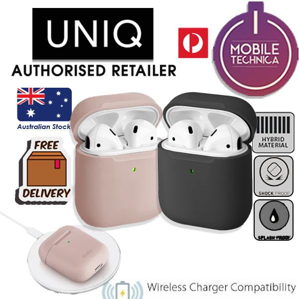 UNIQ Lino Silicon Apple Airpods 1 / 2 Case Grey, Pink - Mobile Technica