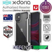 X-Doria Genuine Defense Clear Case iPhone 11 / Pro / Max Black White - Mobile Technica