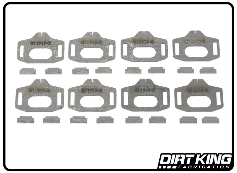 Dirt King Fabrication Toyota Tacoma Alignment Cam Gussets DK811973 Top View For 2016-2021 Toyota Tacoma.