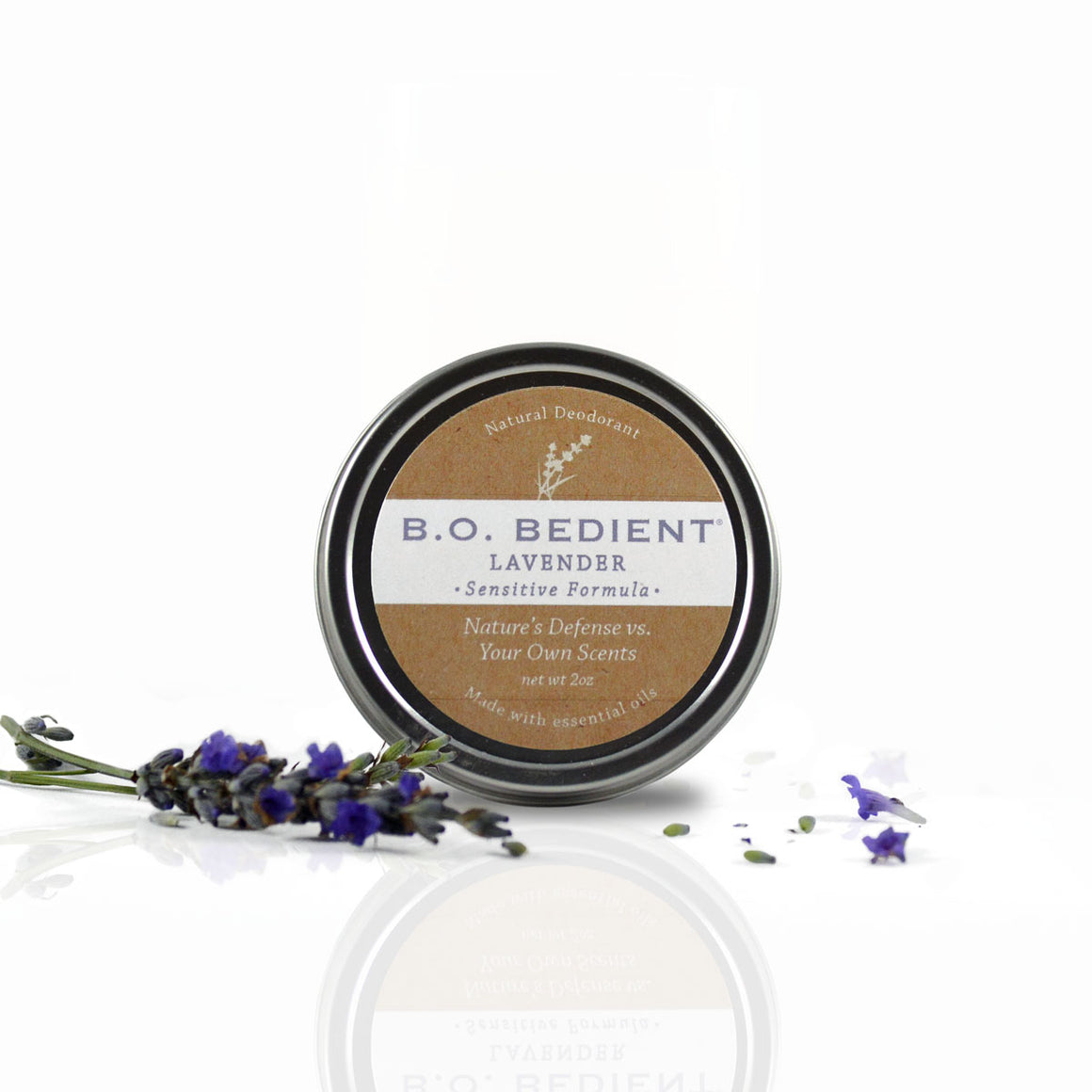 All Natural Deodorant - Lavender Sensitive Tin