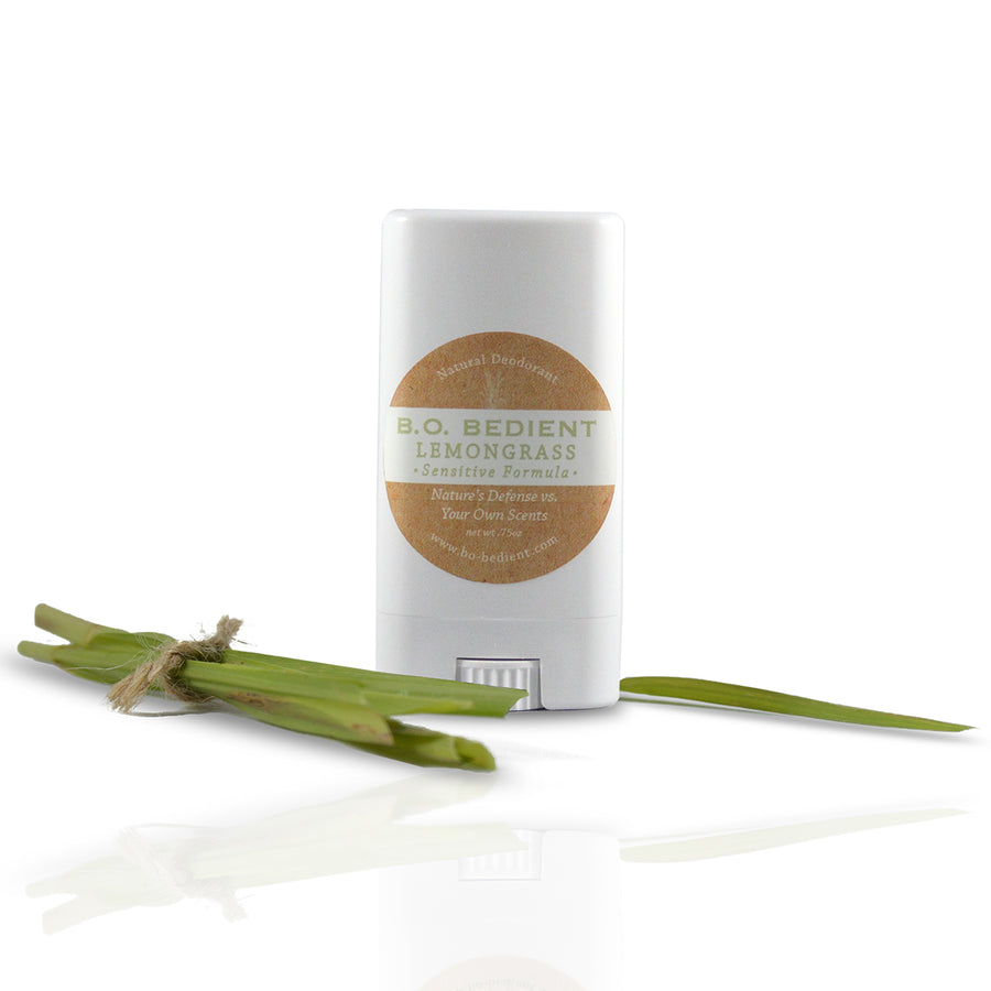 All Natural Deodorant - Lemongrass Sensitive Travel Stick