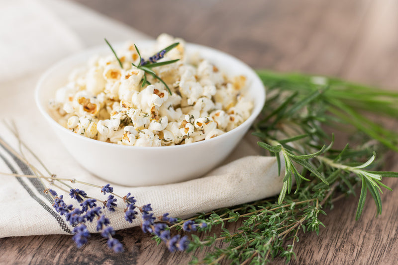 Savoury Popcorn with Herbes de Provence