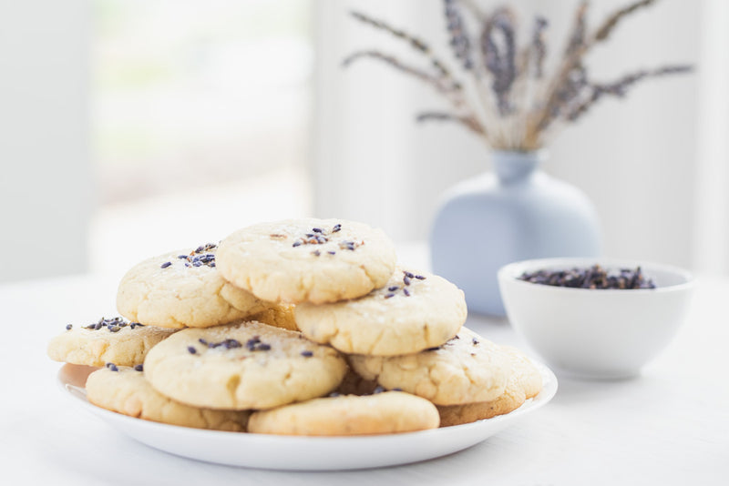 Salted White Chocolate Lavender Cookies