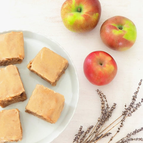 Apple Blondies with Maple and Lavender
