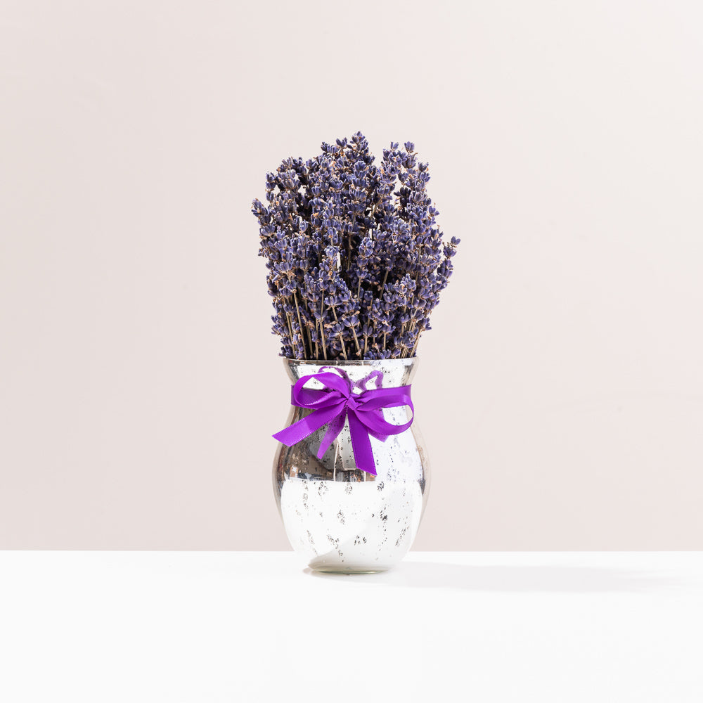 Lavender Bouquet Holiday Vase