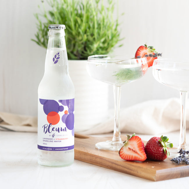 Bleum Lavender + Strawberry Sparkling Water