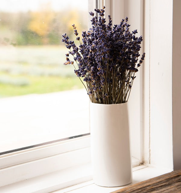 Lavender Bouquet with Vase