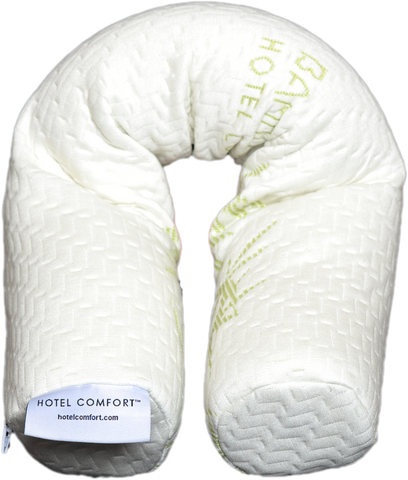 "New! HOTEL COMFORT ""The Noodle"" Ultra Comfort Memory Foam Twist Pillow"