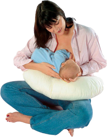 Image of HOTEL COMFORT Nursing Pillow | EASY CARE Washable Bamboo Cover + Draw String Carry Bag
