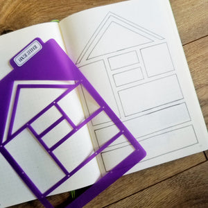 HOUSE LAYOUT STENCIL