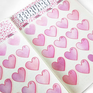HEART MONTHLY LAYOUT STENCIL