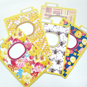 Bee Floral Album Dividers Collab with The Fat Cat Designs
