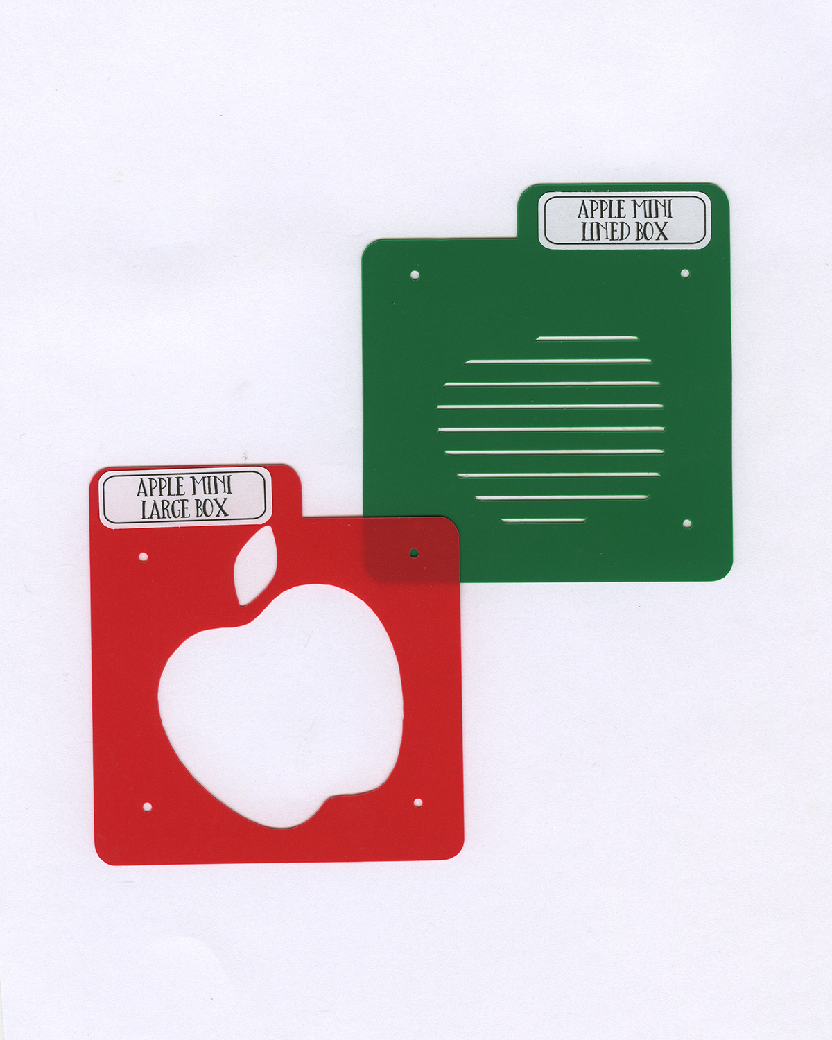 APPLE MINI Stencil Set