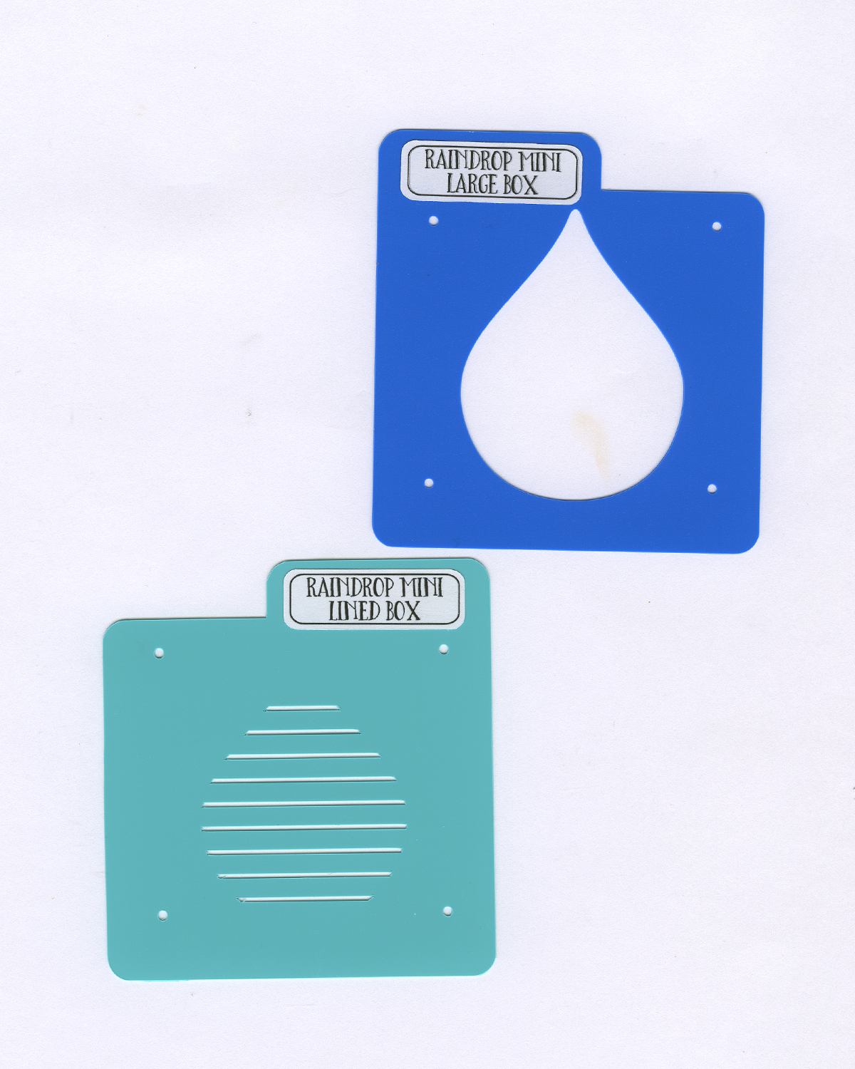 RAINDROP MINI Stencil Set