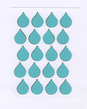 RAINDROP Month on 2 Pages STENCIL MASK