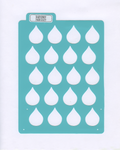 RAINDROP MONTHLY LAYOUT STENCIL