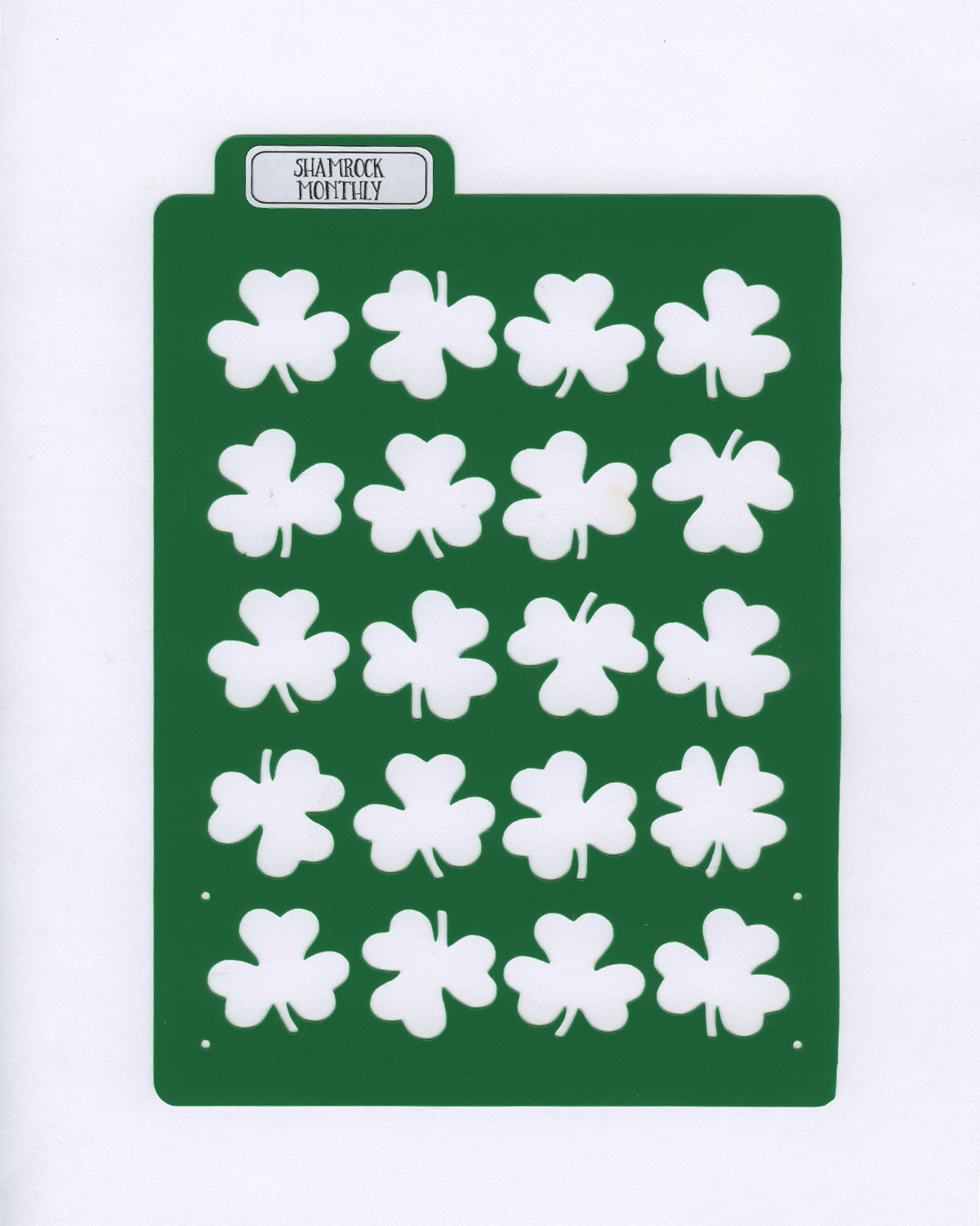 SHAMROCK MONTHLY LAYOUT STENCIL