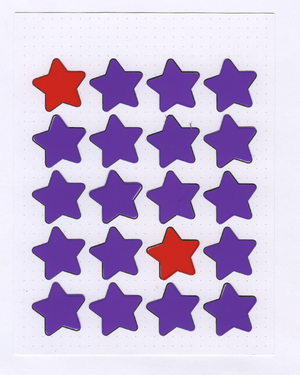 STAR Month on 2 Pages STENCIL MASK