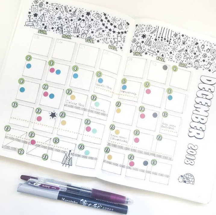 SET OF 12 DOODLE BANNERS for Monthly or Weekly Layouts  | BUJO Style