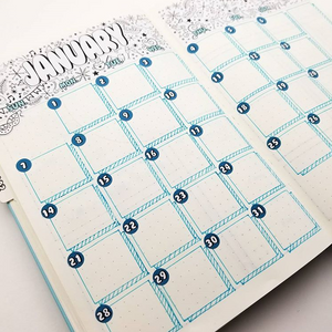 DOODLE BANNERS for Monthly or Weekly Layouts | You Pick Your Month | BUJO Style