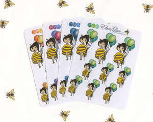 BALLOON BEEBEE Planner Stickers | BeeColorful