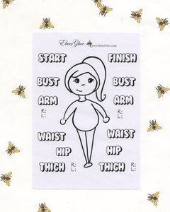 BODY MEASUREMENTS  Planner Stickers |  Hand Drawn