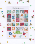 DOODLE CHRISTMAS COUNTDOWN Planner Stickers | BeeColorful