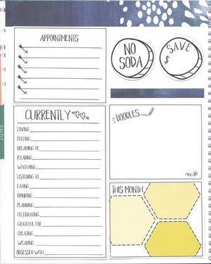 NO JUNKFOOD CIRCLE Hand Draw Note Page Planner Stickers