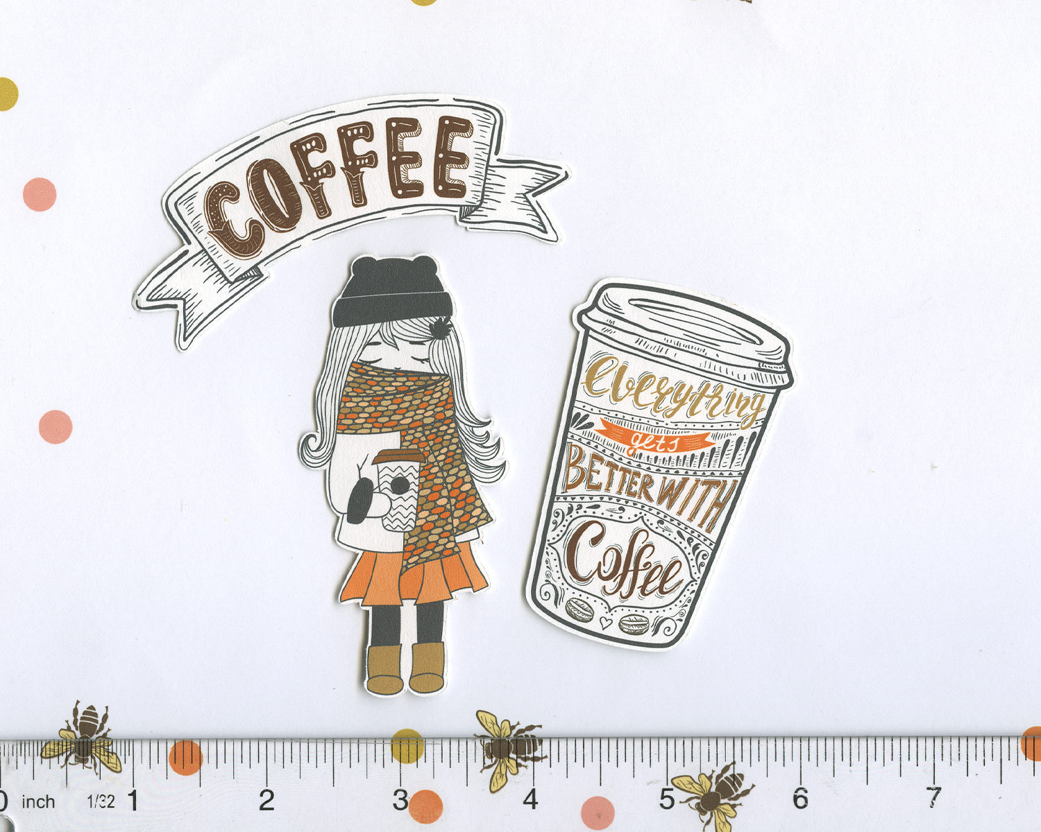 COZY COFFEE DIECUTS Weekly Sampler Planner Sticker Set | Sunset Coffee