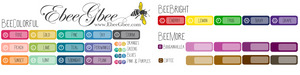 TYPOGRAPHY MONTH Planner Stickers | SINGLE SHEET All Colors Available