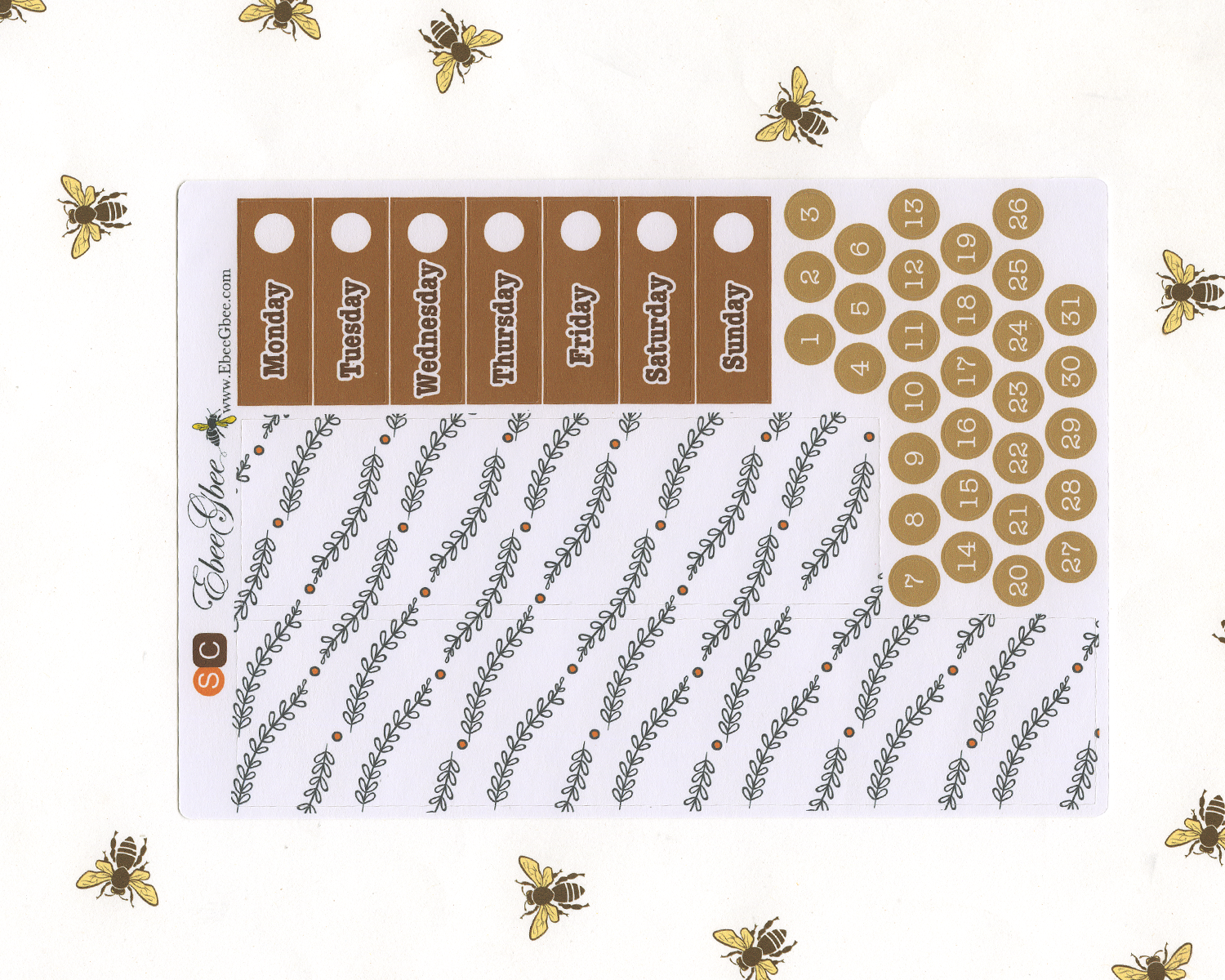 A LA CART COZY COFFEE  Weekly Planner Sticker Set | SUNSET COFFEE