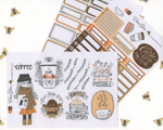 COZY COFFEE WEEKLY Planner Sticker Set | COFFEE SUNSET