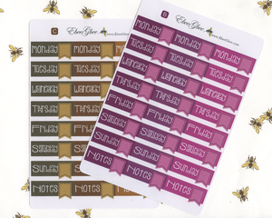 FLAG DATE COVERS Planner Stickers | All Colors Available