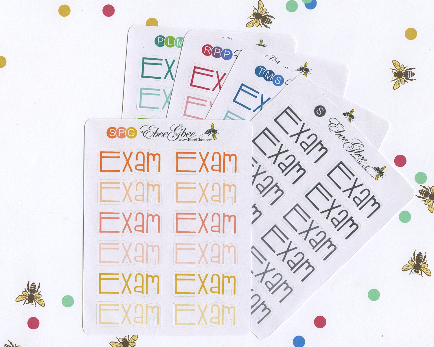EXAM Planner Stickers |  BeeColorful
