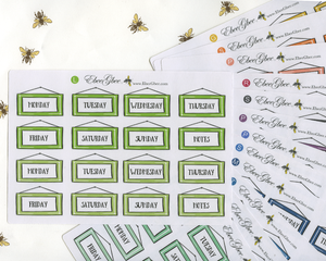 PICTURE FRAME DATE COVERS Planner Stickers | All Colors Available