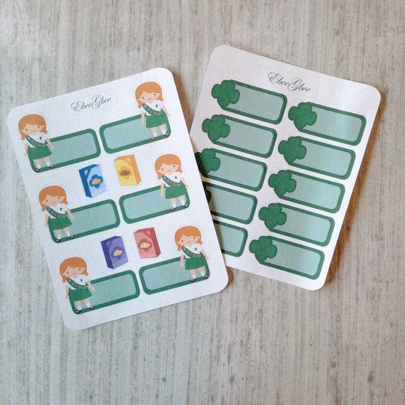 SCOUT GIRL GREEN Planner Stickers