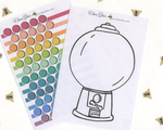GUMBALL TRACKER Style Planner Stickers |  Hand Drawn BeeColorful BuJo Style