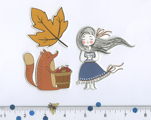 HELLO FALL DIECUTS Weekly Sampler Planner Sticker Set | Navy Coffee
