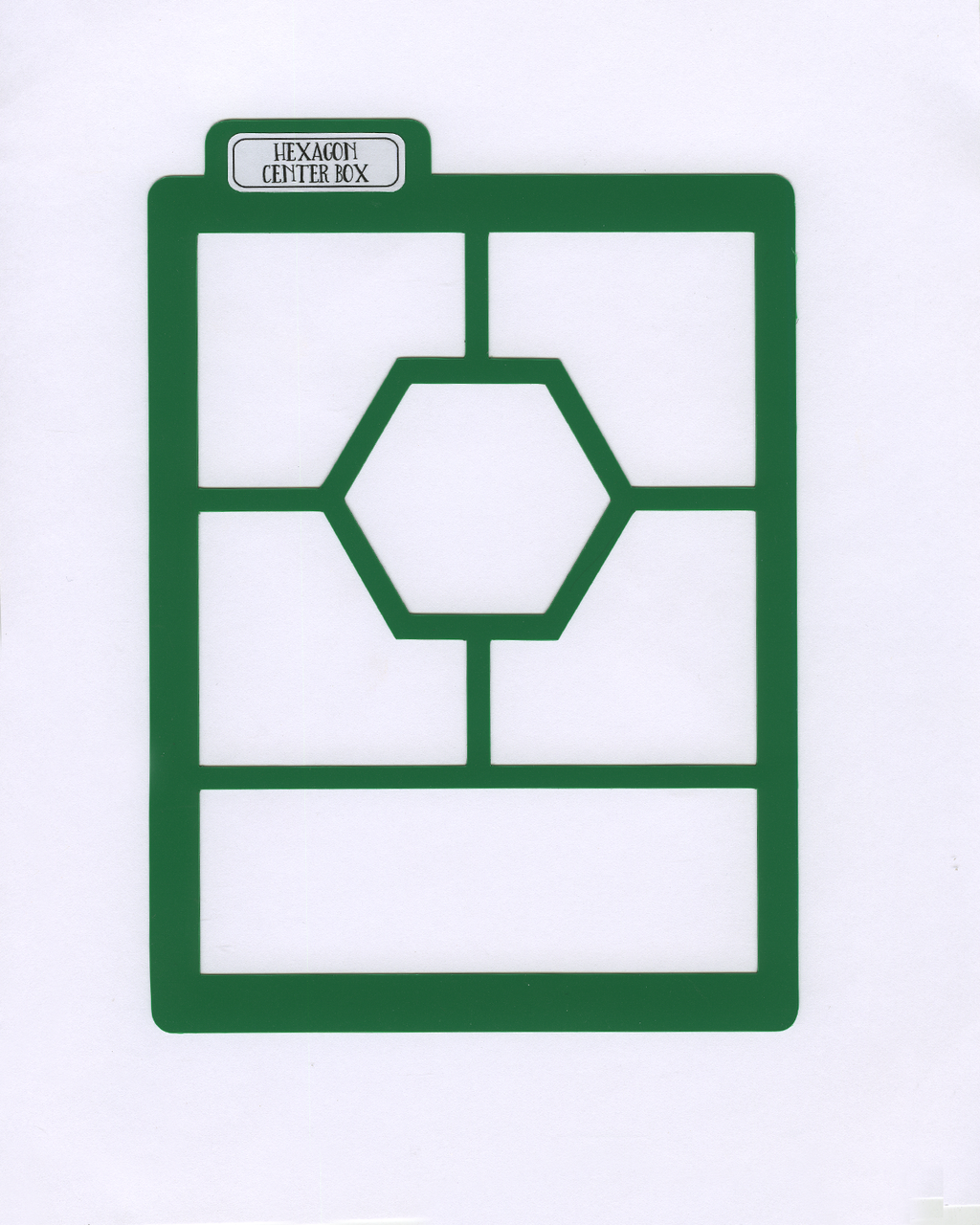 HEXAGON CENTER BOX Stencil