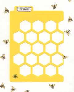 HEXAGON MONTHLY LAYOUT STENCIL