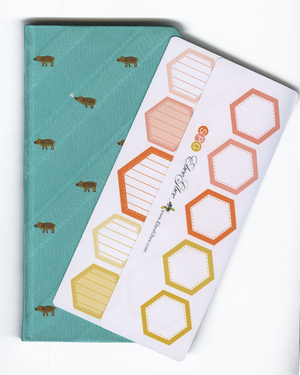 HEXAGON BOXES Hobonichi Weeks Set | BeeColorful