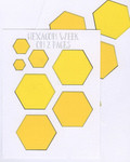 HEXAGON WEEK ON 2 PAGES STENCIL MASK