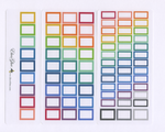 RAINBOW BOXES Hobonichi Weeks Set | BeeColorful