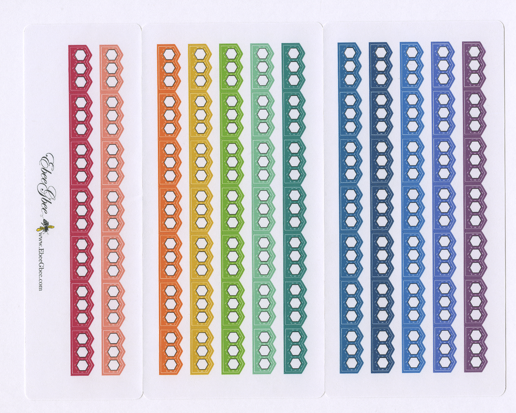 RAINBOW  CHECKLIST Hobonichi Weeks Set | BeeColorful