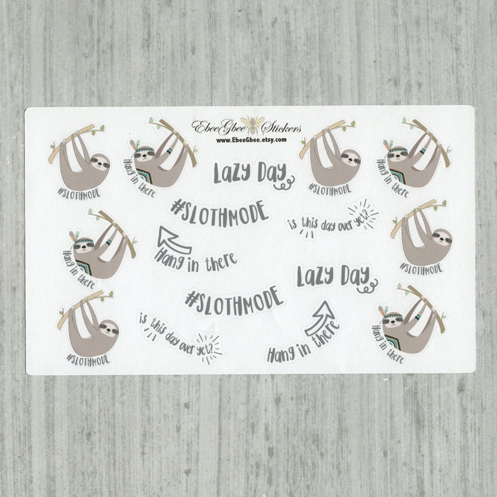 SLOTH Planner Stickers