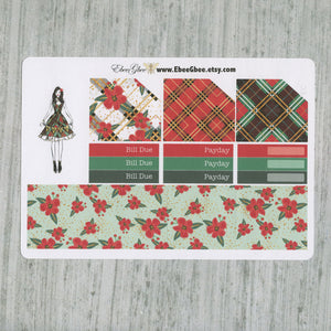 NOEL CHRISTMAS MONTHLY Layout Planner Stickers | You Pick Your Month | Cherry Mint