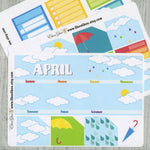 RAINY DAY MONTHLY Layout Planner Stickers | You Pick Your Month