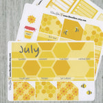 HONEY BEE MONTHLY Layout Planner Stickers | You Pick Your Month